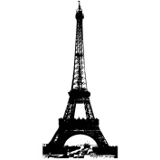 Mounted Rubber Stamp 6.4cm x 8.9cm -Eiffel Tower