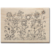 Mounted Rubber Stamp 8.3cm x 12cm -Sunbathing