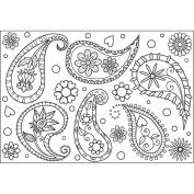 Mounted Rubber Stamp 8.3cm x 12cm -Paisley Background