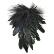 Petite Feather Pad 10cm x 8.9cm 1/Pkg-Black Cocktail & Fluffy