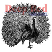 Deep Red Cling Stamp 5.3cm x 5.3cm -Peacock