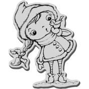 Stampendous Christmas Cling Rubber Stamp 8.9cm x 10cm Sheet-Birdie Kiddo