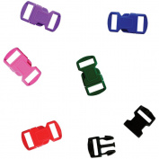 Parachute Cord Bracelet Buckles 12mm 6/Pkg-Assorted Colours
