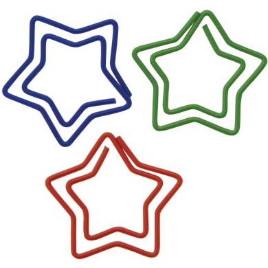 Paper Clips 20/Pkg-Star Shaped