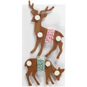 Baker's Twine 4.2yd/Pkg-Red & White/Green & White on Deer