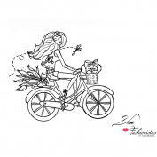 Unmounted Fashionista Red Rubber Stamp 10cm x 11cm -Rin