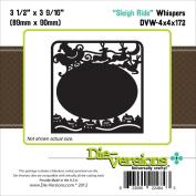 Die-Versions Whispers Die-Sleigh Ride, 8.9cm x 9cm