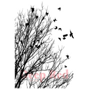 Deep Red Cling Stamp 5.1cm x 7.6cm -Raven Flock
