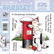 Barkley EZMount Christmas Cling Stamp Set 12cm x 12cm -1st Class Christmas