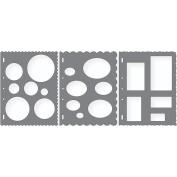 Shape Template Set 22cm x 28cm 3/Pkg