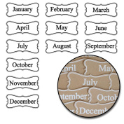 Kraft Die-Cuts 24/Pkg-Months Of The Year - White