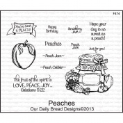 Our Daily Bread Cling Rubber Stamp 13cm x 17cm -Peaches