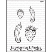 Our Daily Bread Cling Rubber Stamp 13cm x 17cm -Strawberries & Pickles