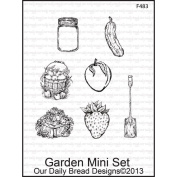 Our Daily Bread Cling Rubber Stamp 13cm x 17cm -Garden Mini Set