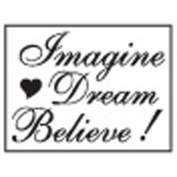 Decorative Resin Seal W/Purple Wax-Imagine, Dream, Believe