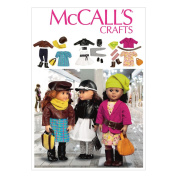 McCall Pattern Company M6804 Clothes and Accessories for 46cm Doll Sewing Template, One Size Only
