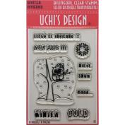 Uchi's Design Bilingual Clear Stamp Set 10cm x 15cm Sheet-Winter