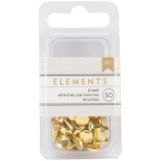 Elements Brads 0.5cm 50/Pkg-Gold
