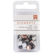 Elements Brads 0.5cm 50/Pkg-Metallic