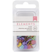 Elements Brads 0.5cm 50/Pkg-Bright