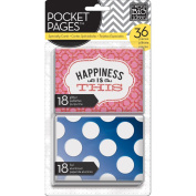 Me & My Big Ideas Pocket Pages Specialty Cards 7.6cm x 10cm 36/Pkg-Happiness Is This