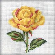 Yellow Rose Counted Cross Stitch Kit-10cm x 10cm 14 Count