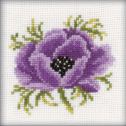 Anemone Counted Cross Stitch Kit-10cm x 10cm 14 Count