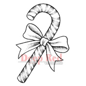 Deep Red Cling Stamp 5.7cm x 8.3cm -Candy Cane