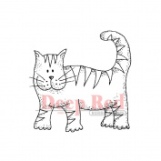 Deep Red Cling Stamp 5.1cm x 5.1cm -Tiger Cat