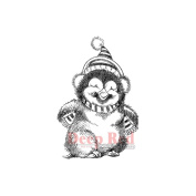 Deep Red Cling Stamp 3.8cm x 5.3cm -Penguin Happy