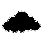 Memory Box Poppystamps Cling-Small Fancy Cloud