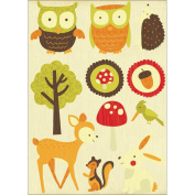 Tiny Woods Printed Layered Chipboard-