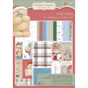 Forever Friends Kraft Notes Ultimate Die-Cut & Paper Pack A4-Christmas 48/Sheets