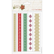 Papermania First Noel Clear Stamps 13cm x 18cm -Borders