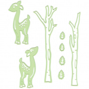 Lea'bilities Cut & Emboss Dies-Deer & Trees, .13cm To 12cm
