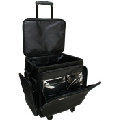 "GOGO 300 Crafter Rolling Tote-50cm x 43cm x 14"" Black"