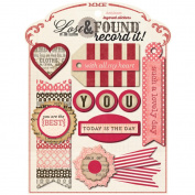 Lost & Found Record It! Layered Stickers-Heirloom