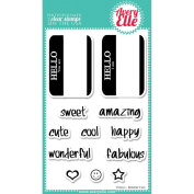 Avery Elle Clear Stamp Set 10cm x 15cm -Hello