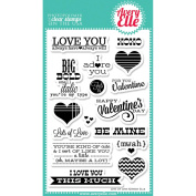 Avery Elle Clear Stamp Set 10cm x 15cm -Lots Of Love