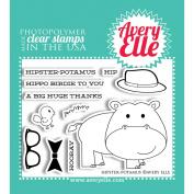 Avery Elle Clear Stamp Set 10cm x 7.6cm -Hipster-Potamus