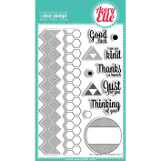 Avery Elle Clear Stamp Set 10cm x 15cm -All Squared Up