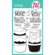 Avery Elle Clear Stamp Set 10cm x 15cm -Cupcakes