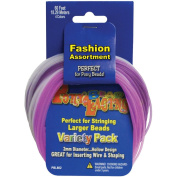 Pepperell Pony Bead Lacing Cord Variety Pack, 18m, Pastel Colours