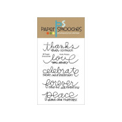 Paper Smooches 10cm x 15cm Clear Stamps-Pretty Phrases
