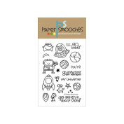 Paper Smooches 10cm x 15cm Clear Stamps-Space Cadet