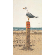 Seagull On Aida Counted Cross Stitch Kit-33cm x 60cm 16 Count