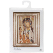 Icon Mother Of God On Aida Counted Cross Stitch Kit-20cm - 1.9cm x 34cm 18 Count