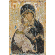 Our Lady Of Vladmir On Aida Counted Cross Stitch Kit-20cm - 1.9cm x 33cm 18 Count