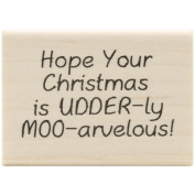 Inky Antics Mounted Rubber Stamp 3.8cm x 5.7cm -Udderly Moo-arvelous
