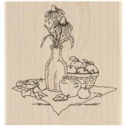 Inky Antics Mounted Rubber Stamp 7.6cm x 8.3cm -Coneflower Still Life